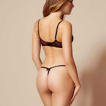 Lacy Thong Black