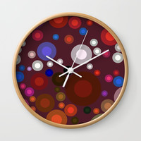 Retro Multi Color Bubbles Wall Clock by Sheila Wenzel