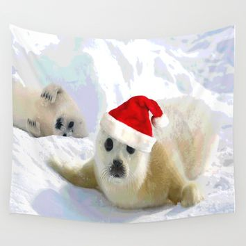 Save Me | Christmas Spirit Wall Tapestry by Azima