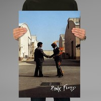 Poster Print Pink Floyd Wish You Were Here Wall Decor Canvas Print - halawatani.com