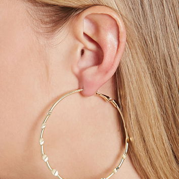 Dimpled Hoop Earrings