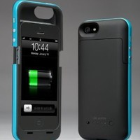 i-Blason PowerPack iPhone 5 Rechargeable External Battery Glider Full Protection Case with Micro 5 Pin USB Charging Port - AT&T, Sprint, Verizon (Blue)