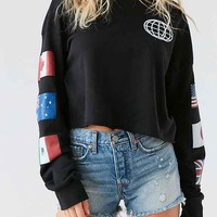 Truly Madly Deeply Around The World Crew-Neck Sweatshirt - Urban Outfitters