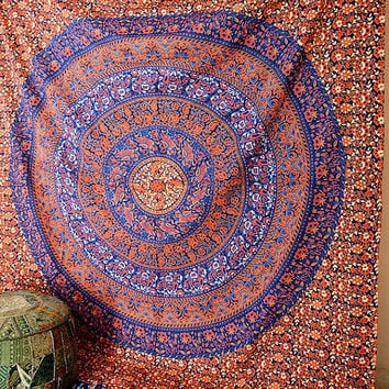 LARGE Mandala Wall Hanging Hippie Wall Tapestry Indian Bedspread Bedding Throw Boho Bohemian Ethnic Home Decor
