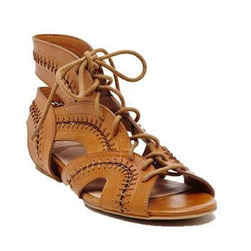 Lace Up Gladiator Sandal-Dolce Vita Wylla Sandals -$100.00 | Hand In Pocket Boutique