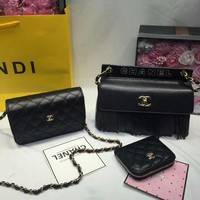 Year-End Promotion 3 Pcs Of Bags Combination (Chanel Bag ,Chanel Mid Bag ,Chanel Wallet)
