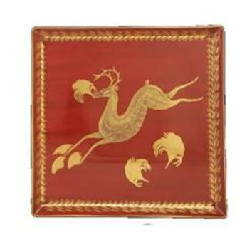 MOTTAHEDEH Leaping Reindeer Canape Plate