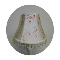 Durham Pink Roses on Pale Blue fabric Shabby Chic Lamp Shade