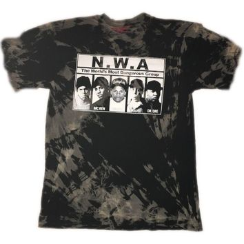 "Hand Bleached NWA ""Most Wanted"" Band Tee"