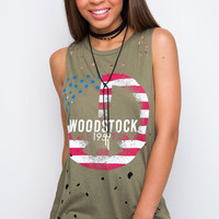 Woodstock 1969 Distressed Top