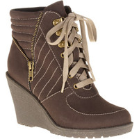 Walmart: Mo Mo Women's Summit Wedge Lace-up Boots