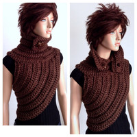 Katniss Inspired Hand Crocheted Cowl. Small/ Medium Fit