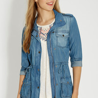 chambray anorak jacket