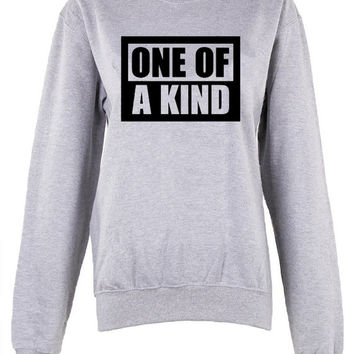 One of a kind crew neck shirt unisex womens mens ladies  print  sweatshirt harry potter hogwarts