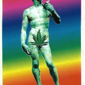 Rainbow David Vintage Sticker / Decal, Retro, Hippie, Psychedelic, Cannabis, Weed, Bumper Sticker