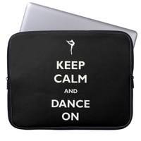 Dance On Black Laptop Sleeve