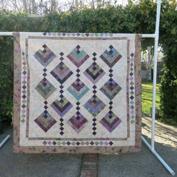 Handmade Hanging Gardens Twin Size Bed Quilt