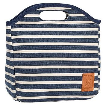 Northfield Navy Stripe Tote Lunch