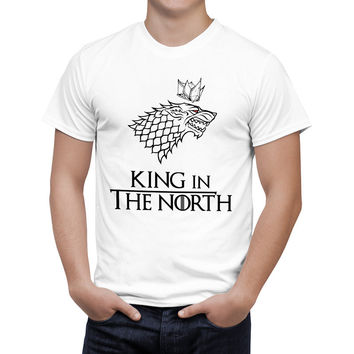 Game of Thrones Wolf T-shirt Stark Winterfell Cotton Tee shirt Winter is coming Casual Streetwear T shirt Fitness B126