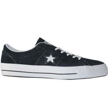 CREYUG7 Converse One Star Ox - Black/White Suede Oxford Sneaker