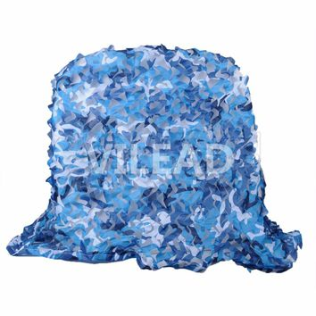 VILEAD 2.5M*3M Filet Camouflage Netting Blue Camo Netting For Camping Jungle Tent Beach Tents Shelters Gazebo Netting Pergolas