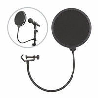 Double Layer Recording Studio Microphone Mic Wind Screen Filter Mask Shield