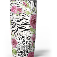 Animal Vibe Floral Yeti Rambler Skin Kit