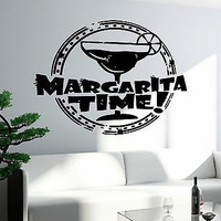 Wall Decal Bar Alcohol Drink Margarita Glass Decor For Kitchen (z2643)