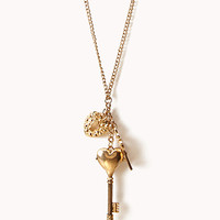 Heart Key & Lock Necklace   FOREVER 21 - 1026486714