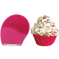 DermaDream Silicone Sonic Brush + Feeling Smitten Cupcake Bath Bomb