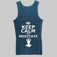 Keep Calm And Mediatate Womens Tank by DKTees on Etsy