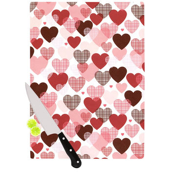 "Heidi Jennings ""Love"" Pink Red Cutting Board"