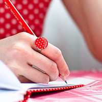 Back to school - Red ring - Polka dot jewelry