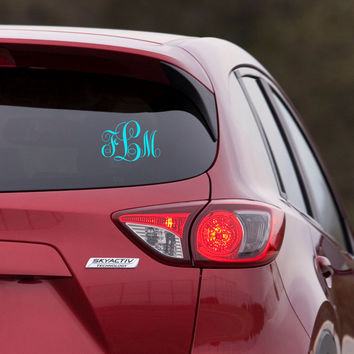 Monogram Sticker for Car Decal - KK Monogram Font - Monogram Everything - wall macbook window door