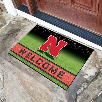 "University of Nebraska 18""x30"" Crumb RubberDoor Mat"
