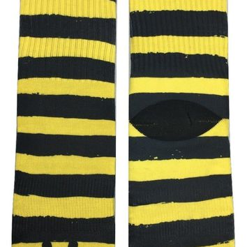 Striped Bumble Bee Socks