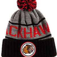 The Chicago Blackhawks High 5 Beanie in Grey & Black