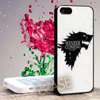 Game of Thrones House Stark Wolf Hard cover plastic for iphone 4, iphone 5, samsung s3 i 9300, samsung s4 i 9500