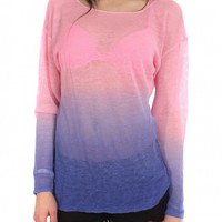 Pink Ombre Sweater by Feel the Piece - ShopKitson.com
