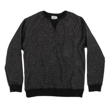 The Men's Apres Crewneck in Salt and Pepper Fleece