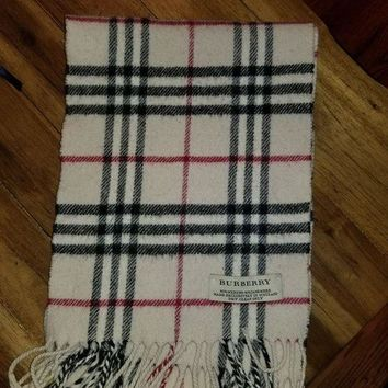 VONEA7H Burberry Scarf Merino and Cashmere Women's Or Girls 46'