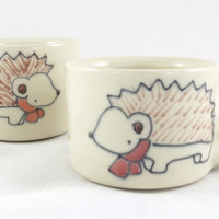Hedghog Espresso Cups - Handmade Miniature Coffee Mugs - Made to Order
