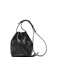 Tumble Leather Mini Mini Bag In Black by Mansur Gavriel - Moda Operandi