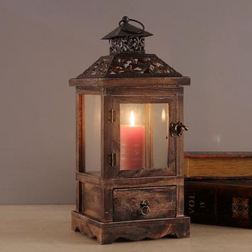 Vintage Model House Candle Holder Lantern