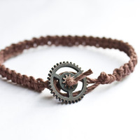Gear Hemp Bracelet Friendship Brown Hemp