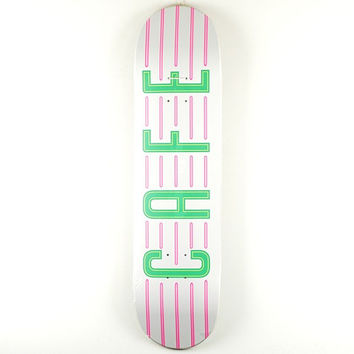 Skateboard Cafe Neon White Deck
