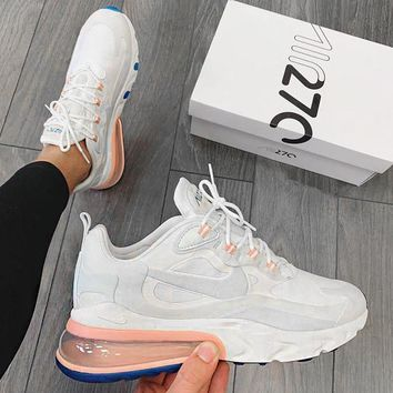 NIKE AIR MAX 270 React Popular Women Men Air Cushion Running Sport Shoes Sneakers