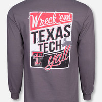 Texas Tech Vintage Wreck 'Em Ya'll Long Sleeve Shirt