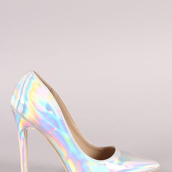 Holographic Pointy Toe Stiletto Pump
