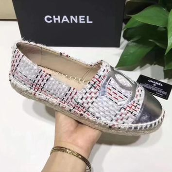 Chanel Women Fashion Espadrilles Flats Shoes